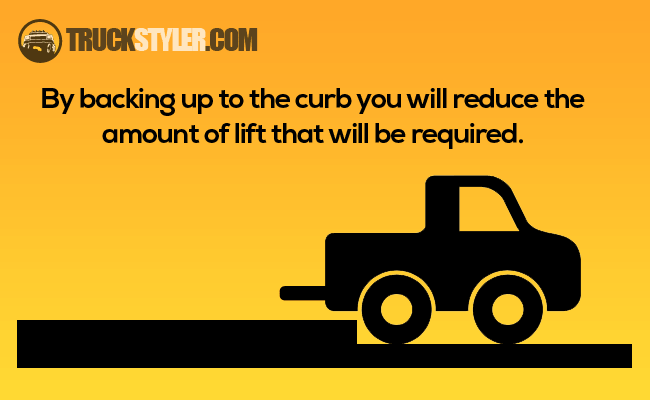how to tie down a refrigerator in a pickup truck
