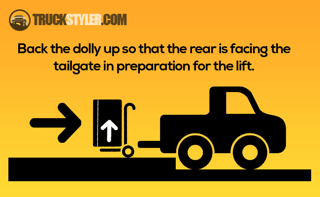 how to load a refrigerator in a pickup truck